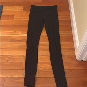 athleta barre leggings with heel opening